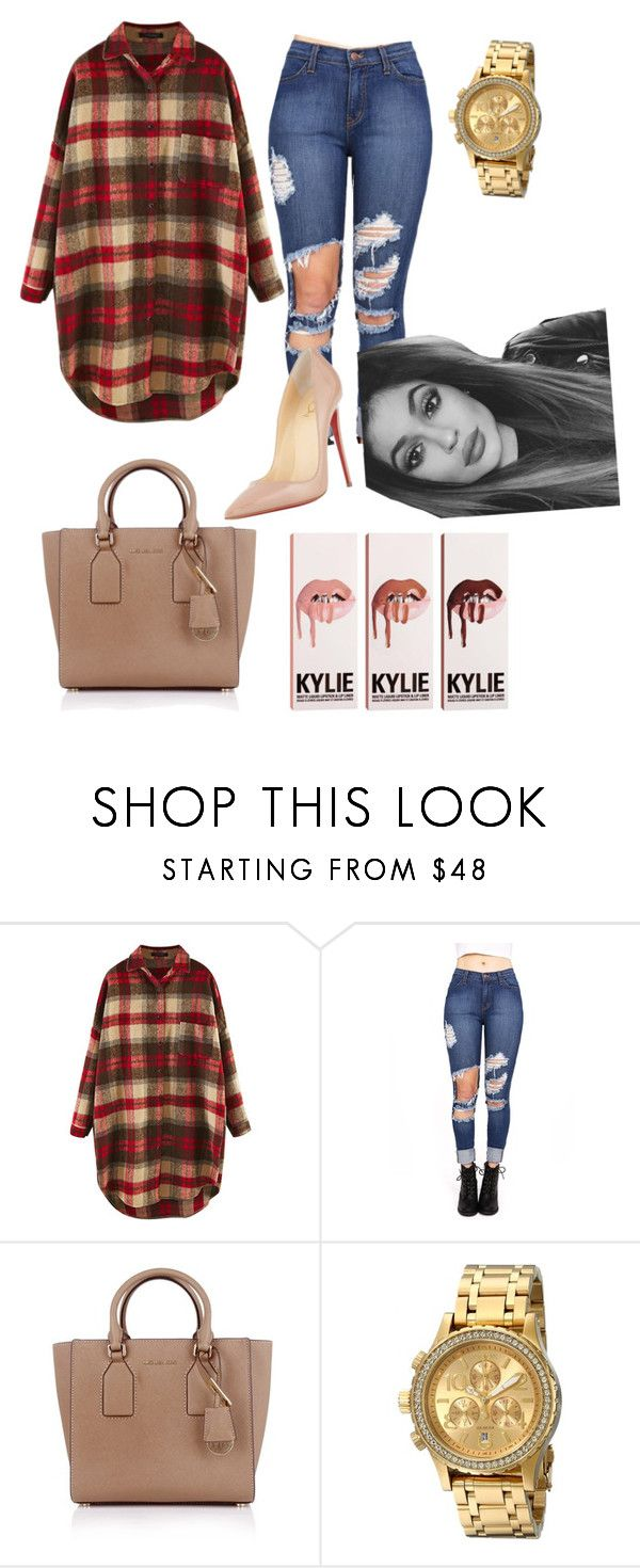 """""""Untitled #176"""" by trinity-fashionlover ❤ liked on Polyvore featuring Michael Kors, Nixon and Christian Louboutin"""