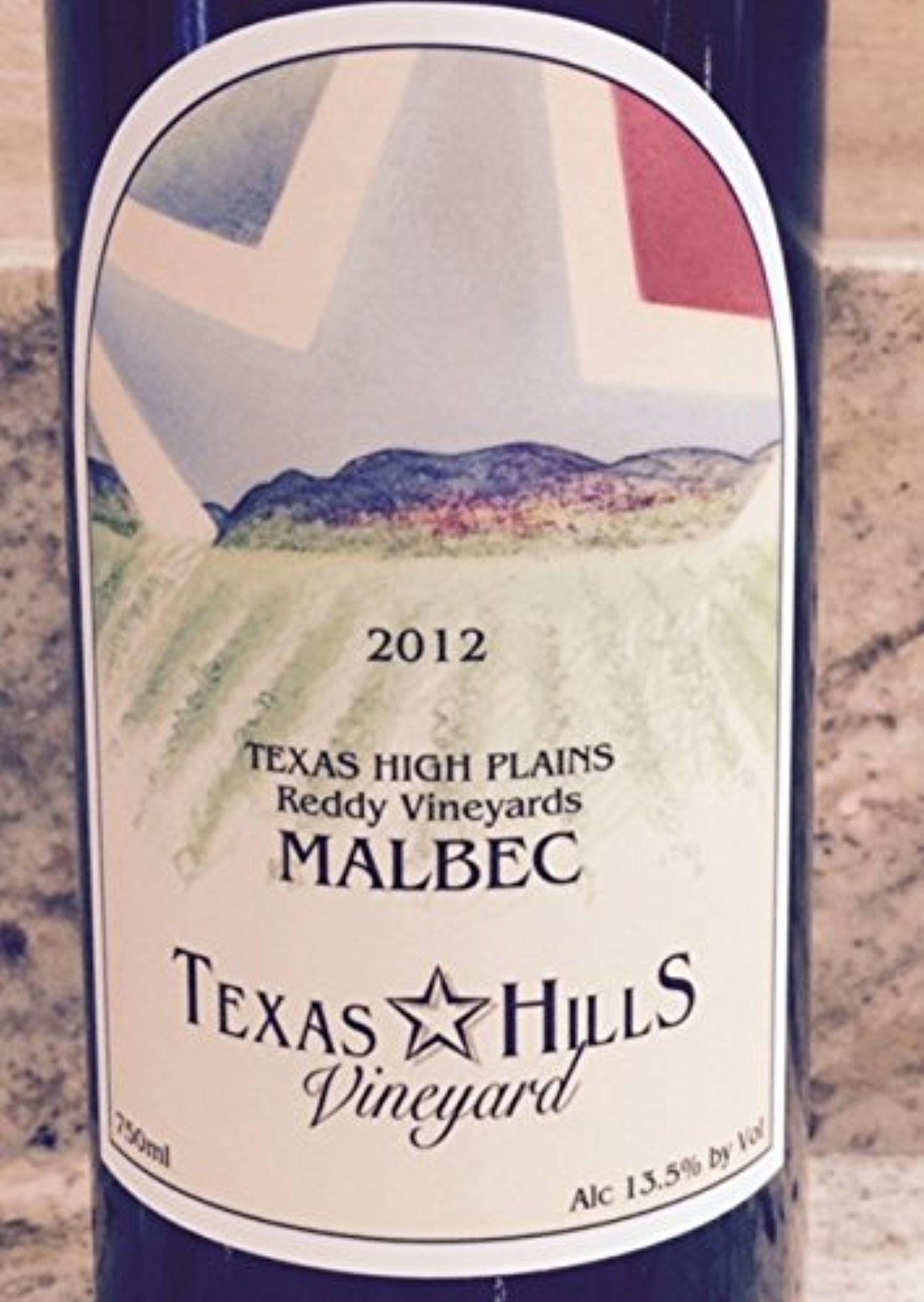 2012 Texas Hills Vineyard Reddy Malbec 750 mL Wine -- Awesome products selected by Anna Churchill