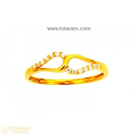 22K Gold Ring For Women with Cz 235 GR4219 Buy this Latest