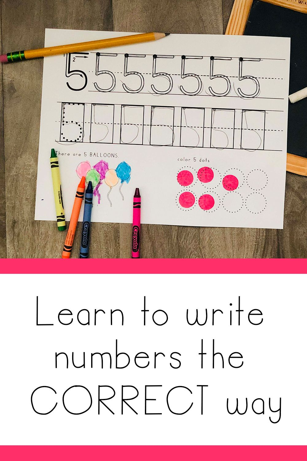 Learn To Write Number Formations The Correct Way Handwriting Without Tears Writing Numbers Learning To Write