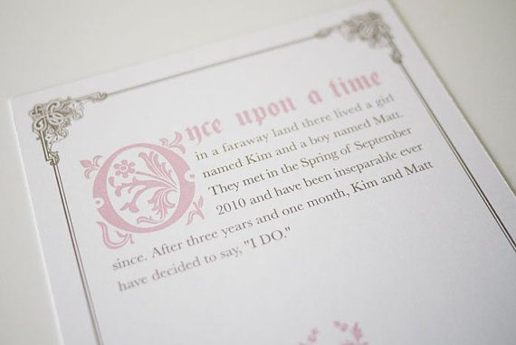 Once Upon a Time Fairy Tale Invitation | Kids | Birthday Ideas ...