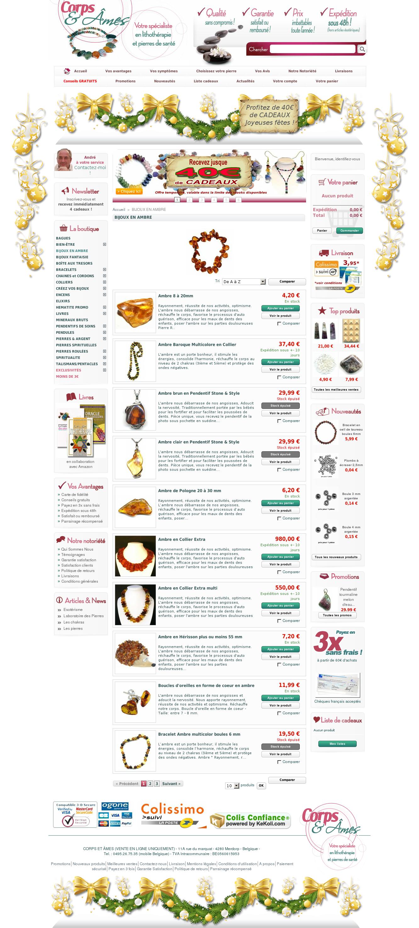 Corpsetames.com, le spécialiste de la lithothérapie, des pierres précieuses et semi précieuses.