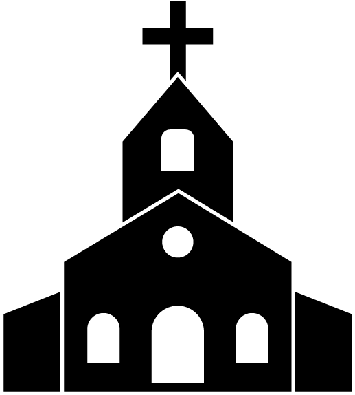 View And Download Hd Church Drawing Clip Art Church Clipart Black And White Png Image For Free The Image Resolution Is 640x640 Igreja Cor De Fundo Catolico