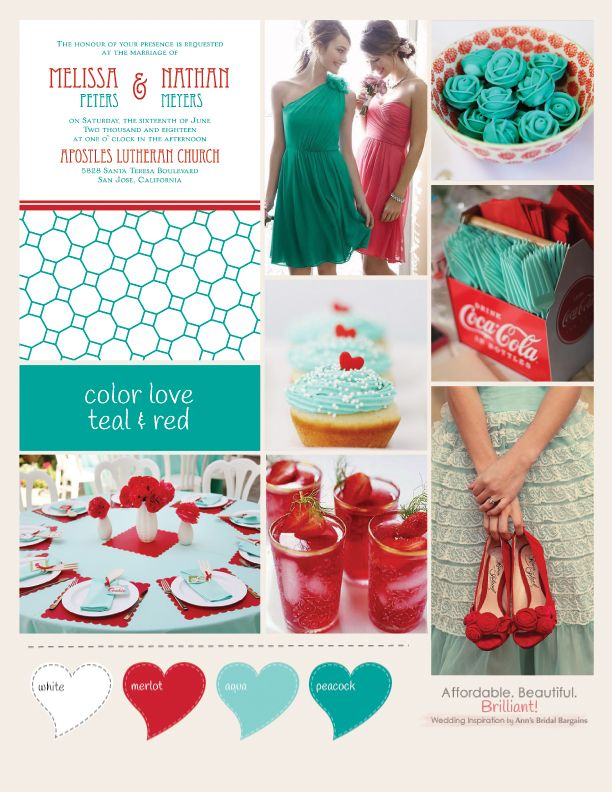 Color Love Teal And Red