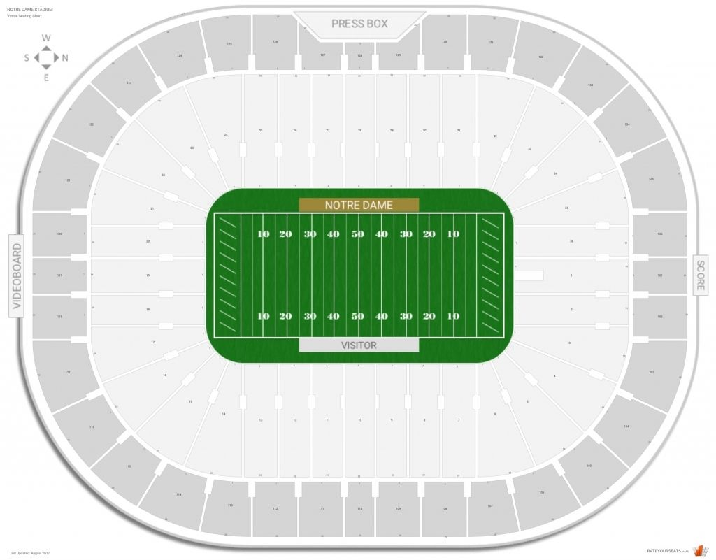 Incredible and Attractive notre dame football seating chart