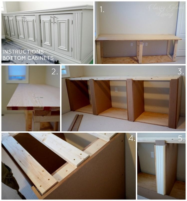Diy Built In Office Cabinet Built Ins Woodwork Office