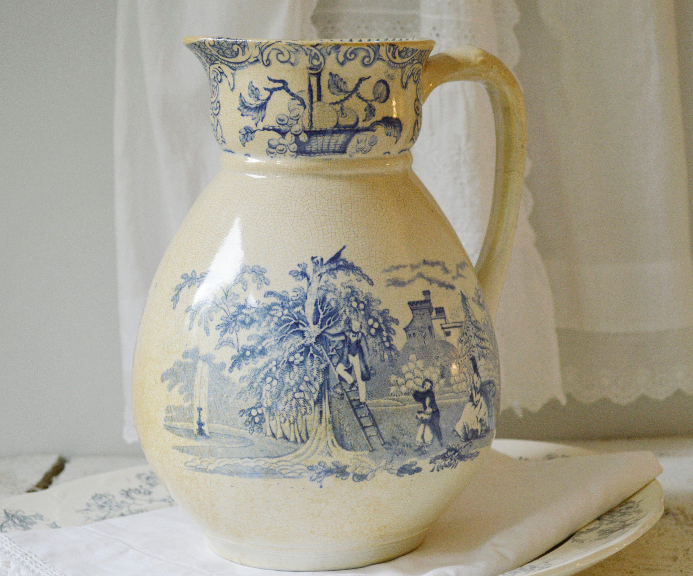 Big fire stoneware jug France