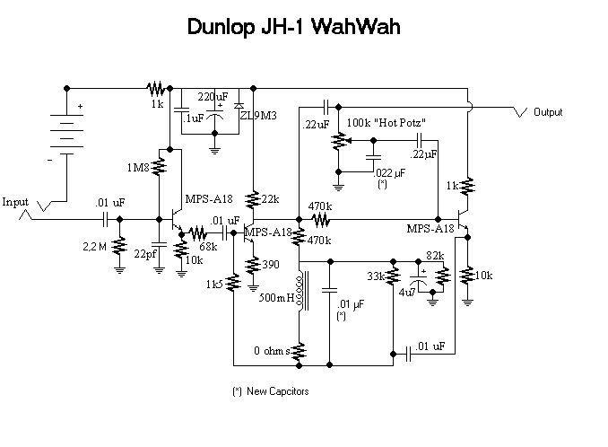 Схема Dunlop Jimi Hendrix Wah Reverb Pinterest