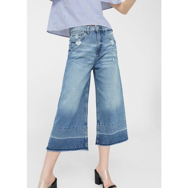 9dd8881f61 MANGO Crop flared jeans (€28) ❤ liked on Polyvore featuring jeans ...