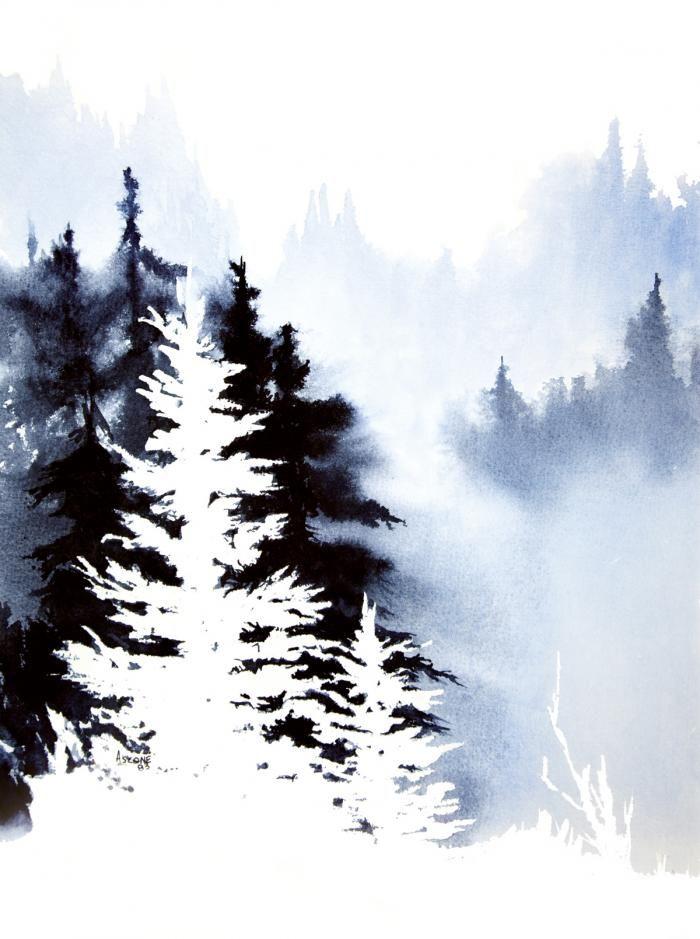 teresaascone Gallery Forest Indigo Watercolor