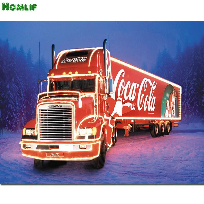 e12b038d04bc88 5D Diamond Painting Mosaic diy coke Christmas truck | Trucks | Coca ...