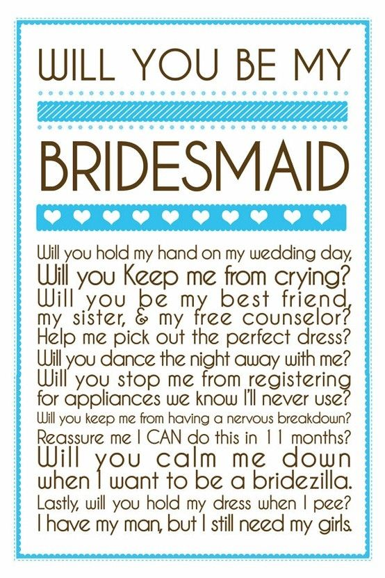Will You Be My Bridesmaid invitations The Maids Side of