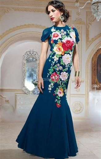 ba2373f3aac2 Beautiful gown styles of long indian dress online india