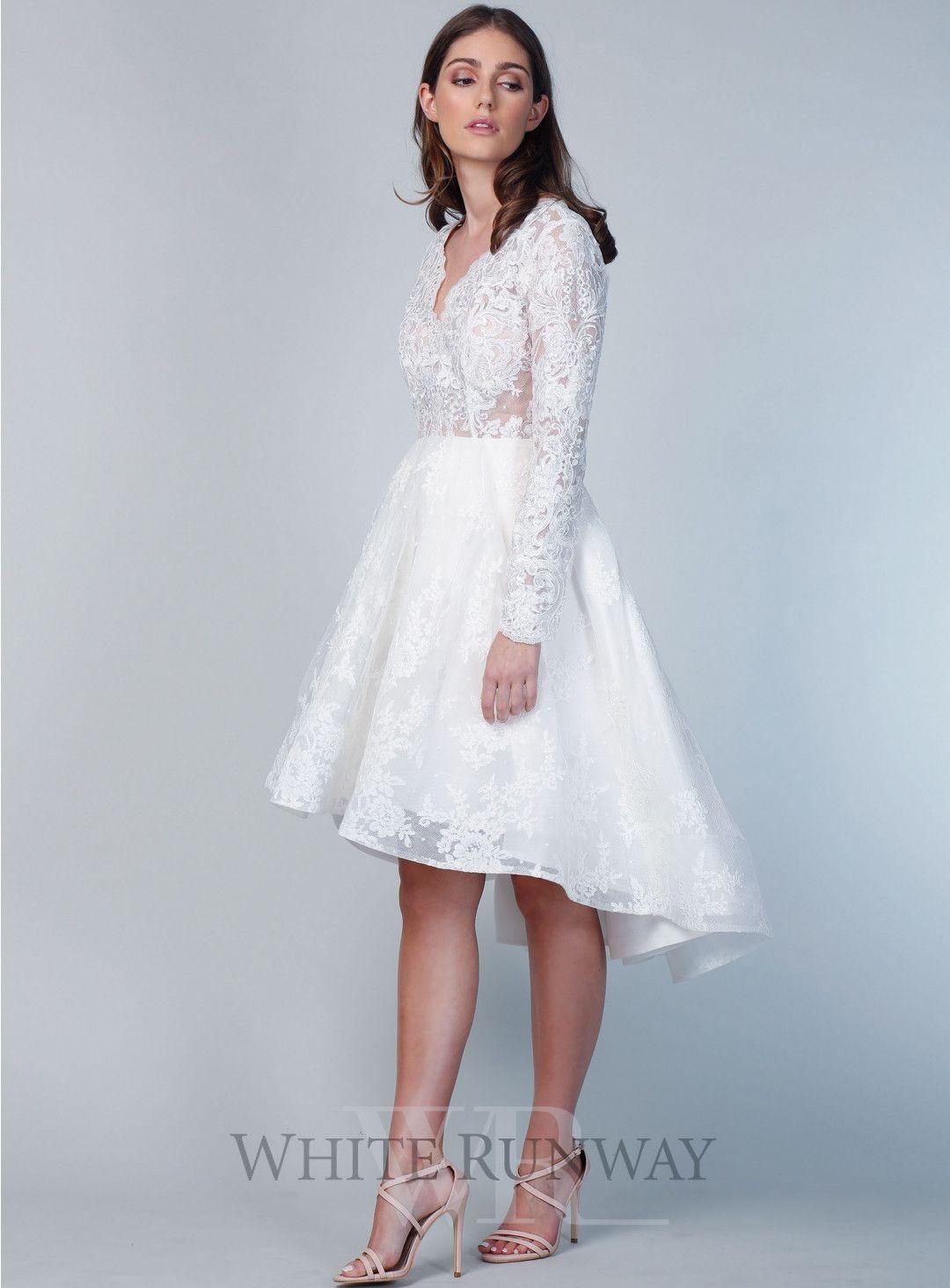 Long sleeve cocktail dress for wedding  Emi Lace Cocktail Dress  Bridal Gowns CocktailTeaLengthMidi