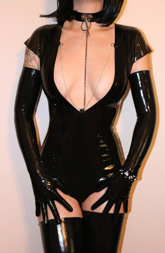 c0415bb116773 Latex bodysuit   choker
