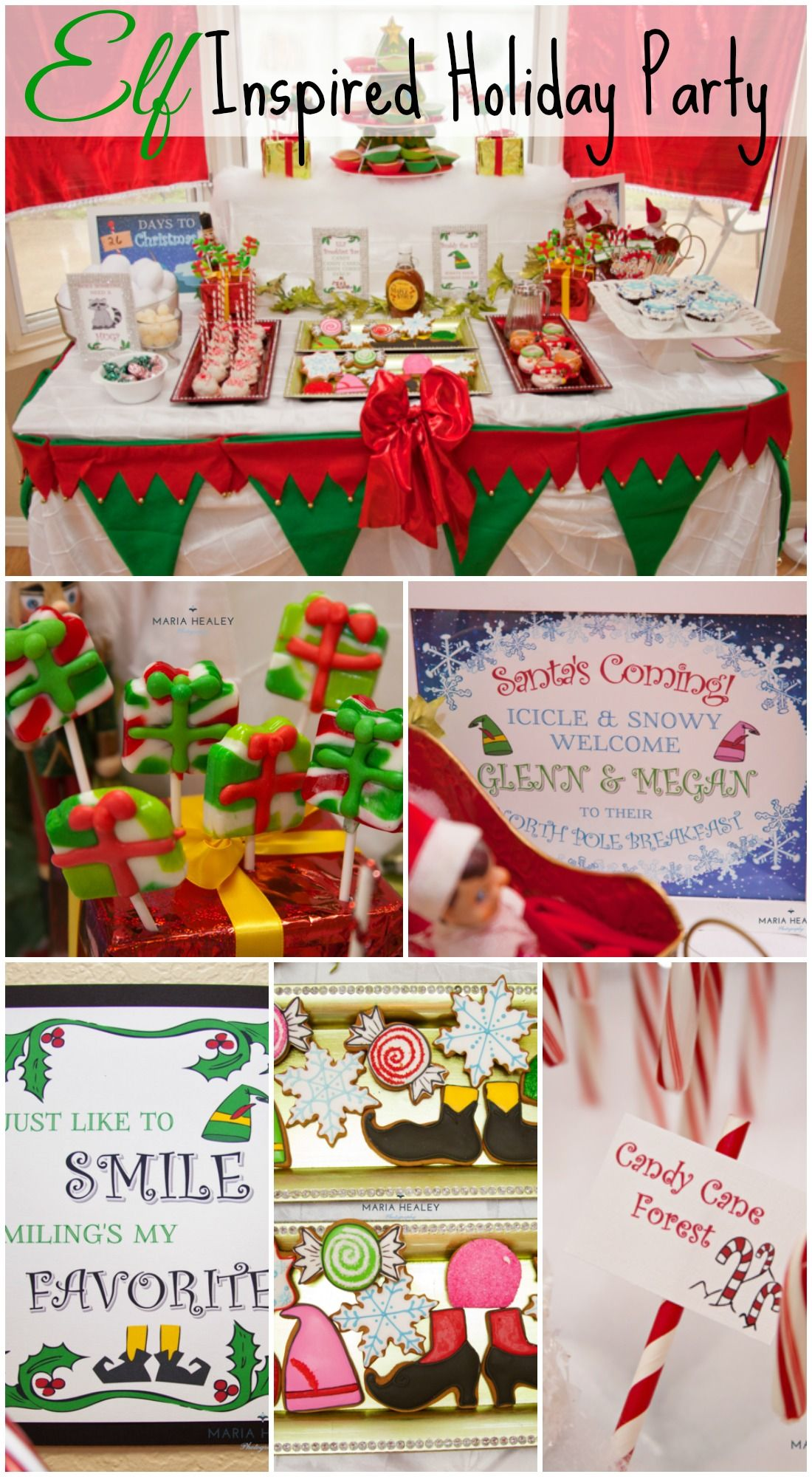 A Christmas Party Based On The Movie Elf See More Party Ideas At Catchmyparty Elf Themed Christmas Party Christmas Party Ideas For Teens Kids Christmas Party