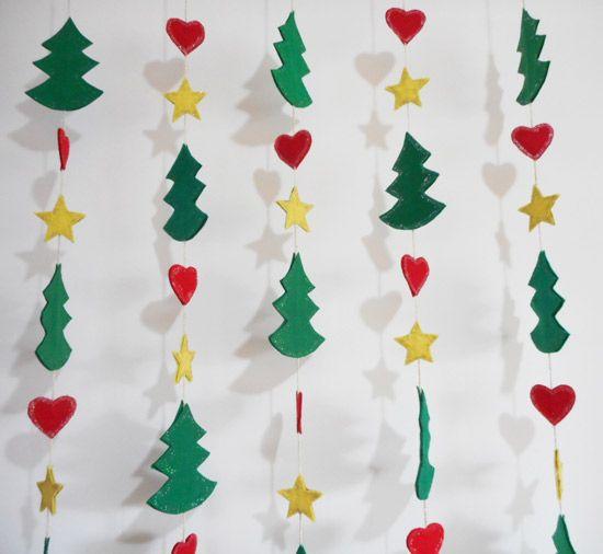 Decoraç u00e3o de natal como fazer móbile natalino decorações festas Decoraç u00e3o de natal  -> Como Decorar Um Teto Com Tnt