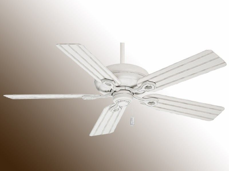 Cottage Style Ceiling Fan Casablanca Charthouse White W 99014 Beadboard