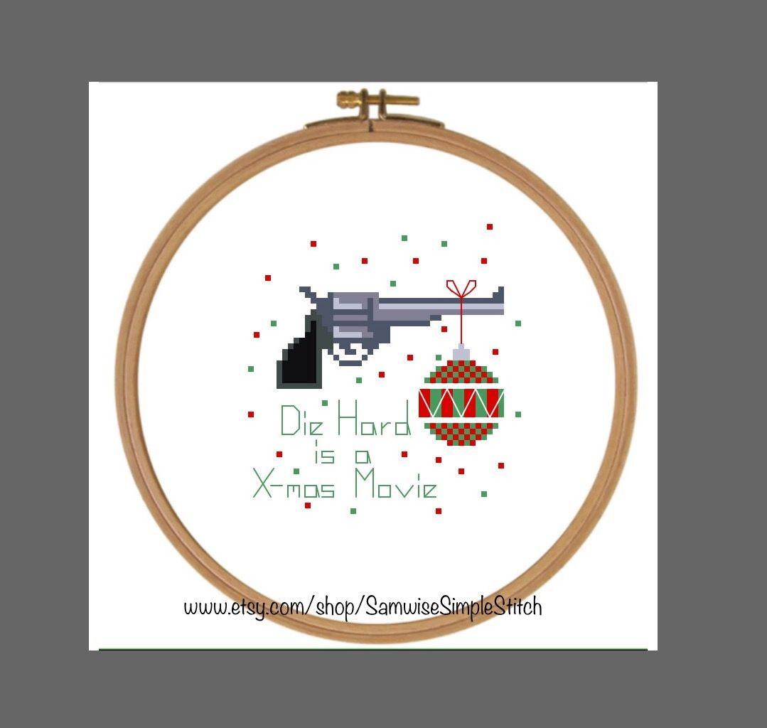 Die Hard is a Christmas movie cross stitch pattern | Cross stitch ...