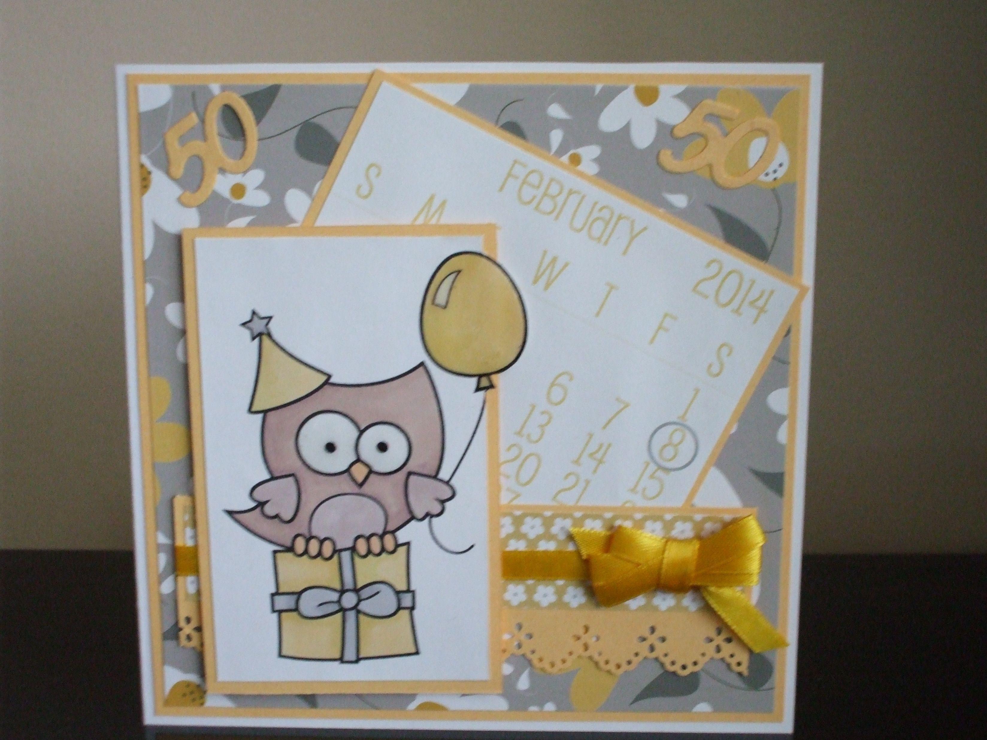 Handmade female th birthday card digistamp boutique image merlin