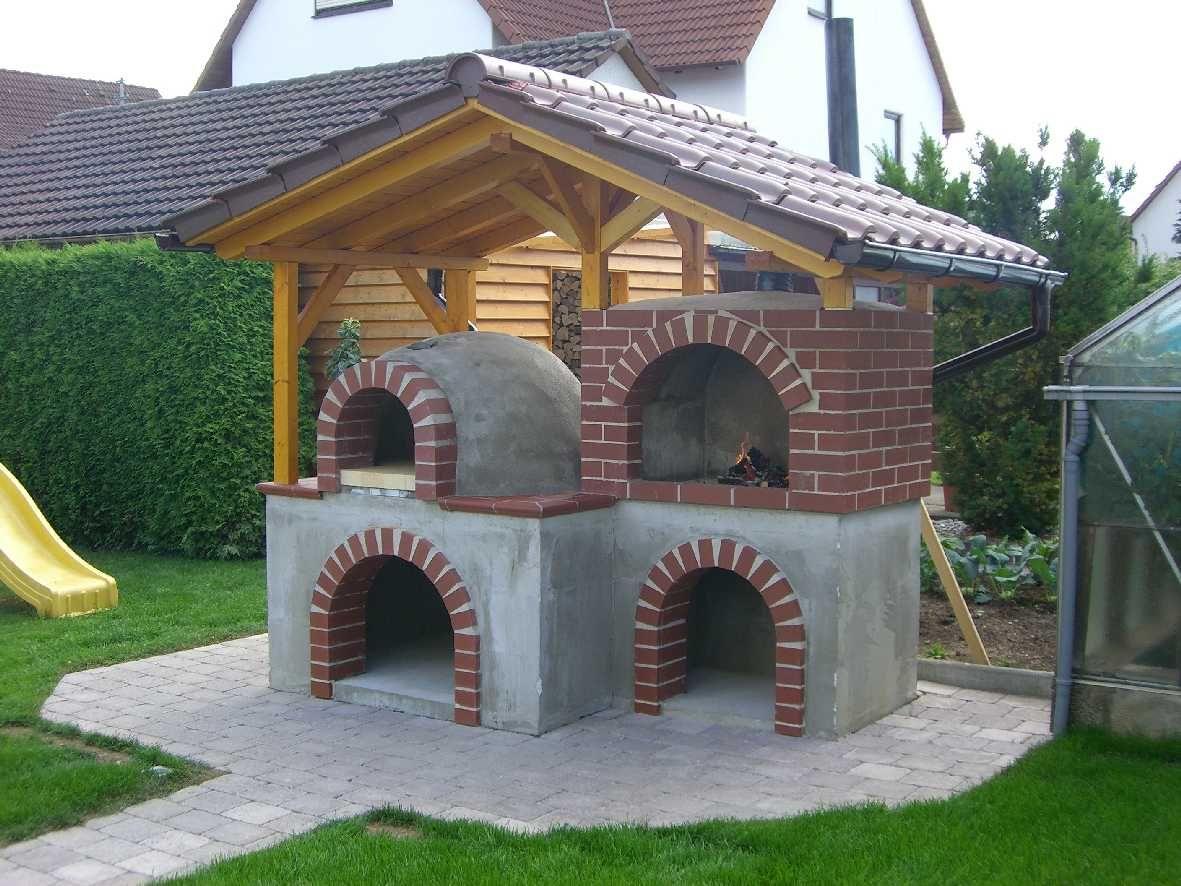 Holzbackofen backofen holzbackofen ofen und pizzaofen for Outdoorkuche mit grill