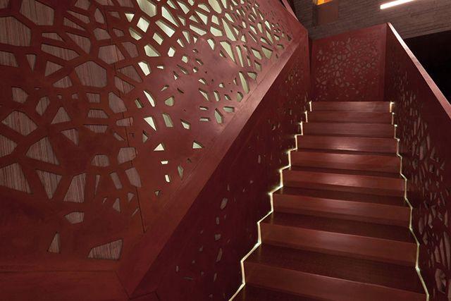 Copper Staircase at Villa Mallorca By Arup and Studio Mishin