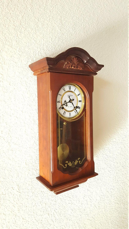 restored vintage antique ansonia 8day key wind westminster chiming pendulum wall clock wwarranty - Pendulum Wall Clock