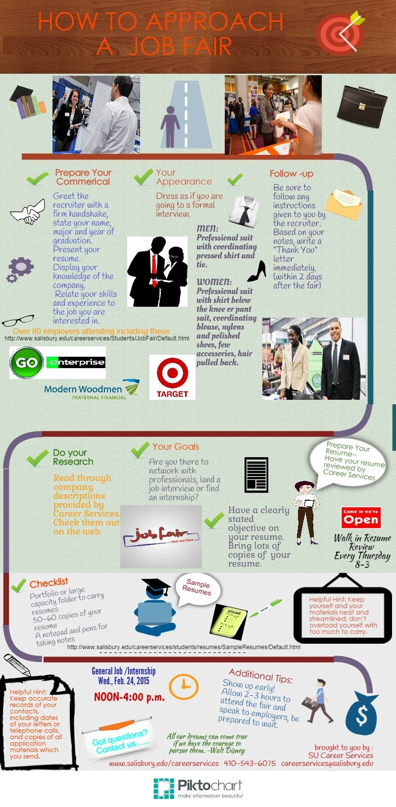 How To Approach A Job Fair Piktochart Infographic Editor  Advice