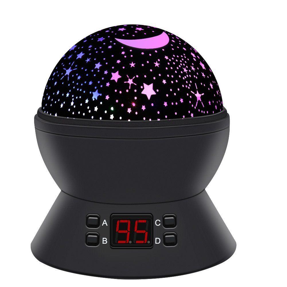 LED Star Projektor 360° Rotation Nachtlicht Lampe Projektor für Kinder Zimmer de