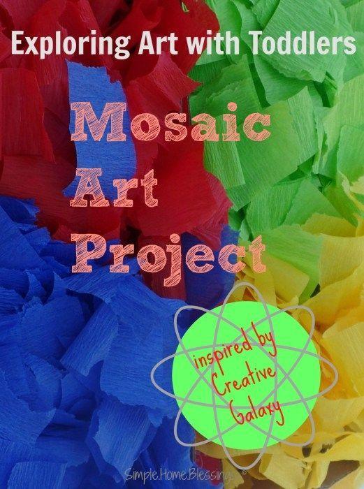Creative Galaxy Inspired Toddler Mosaic Art Creative Galaxy Inspired Toddler Mosaic Art