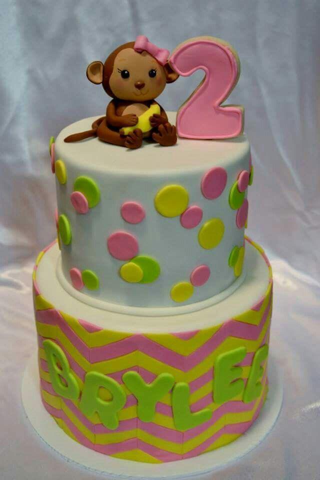 Bright monkey cake