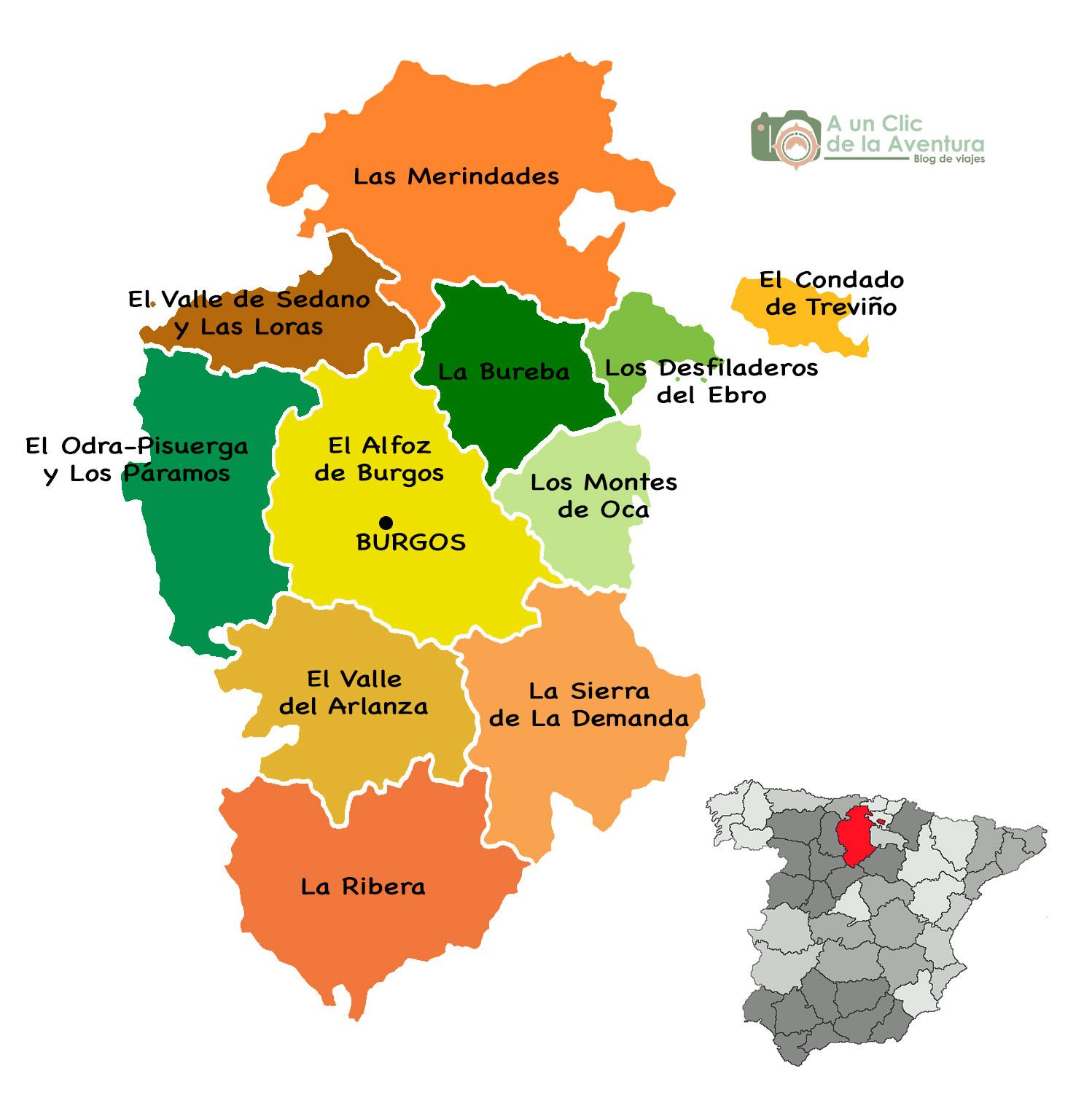 Condado De Treviño Mapa.Mapa De Burgos Que Hacer En Burgos En 2019 Ebro Y Mapas