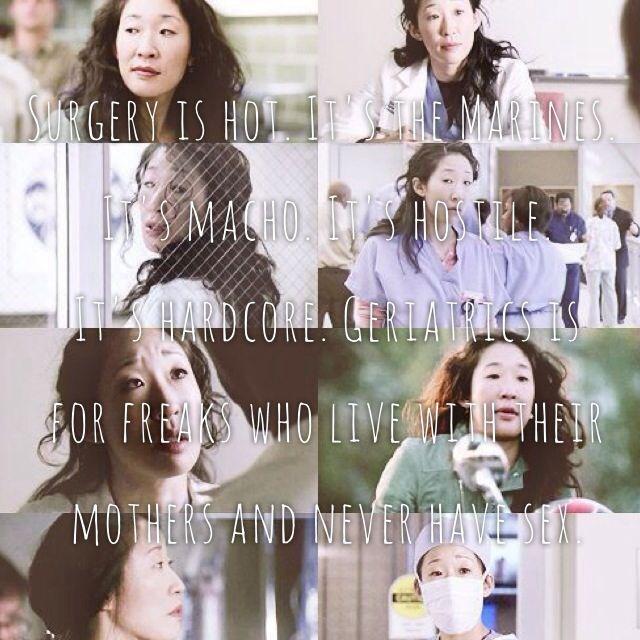 Cristina Yang- Grey\'s Anatomy #surgery #medicine | Greys anatomy ...