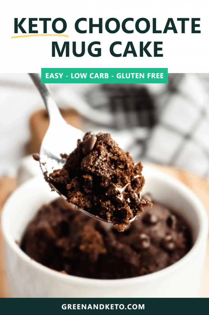 Keto Chocolate Mug Cake (2 Minute Recipe!) #mugcake