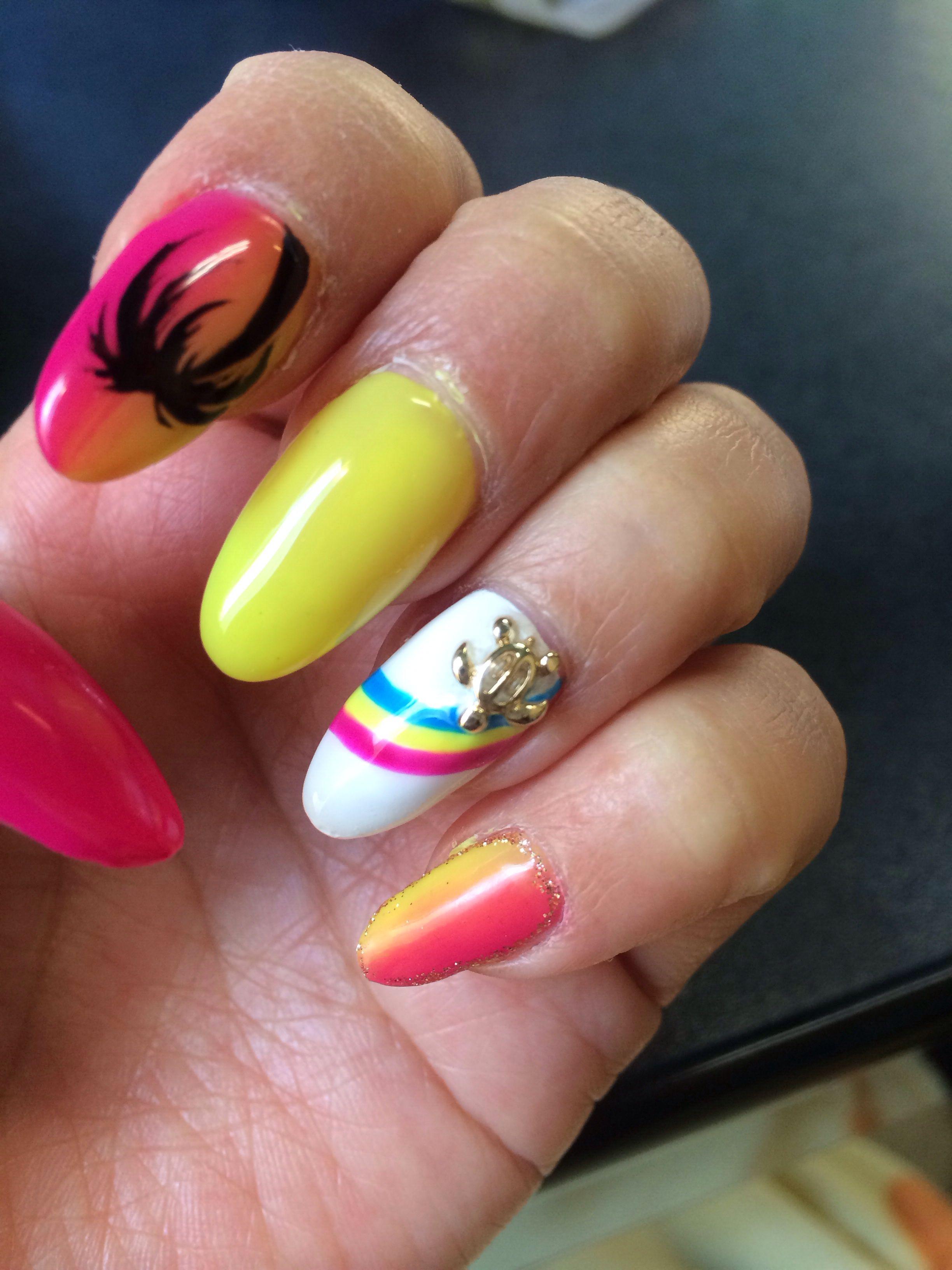 Hawaiian Nails :) | Nails, Nails, Nailsssss!! | Pinterest | Hawaiian ...