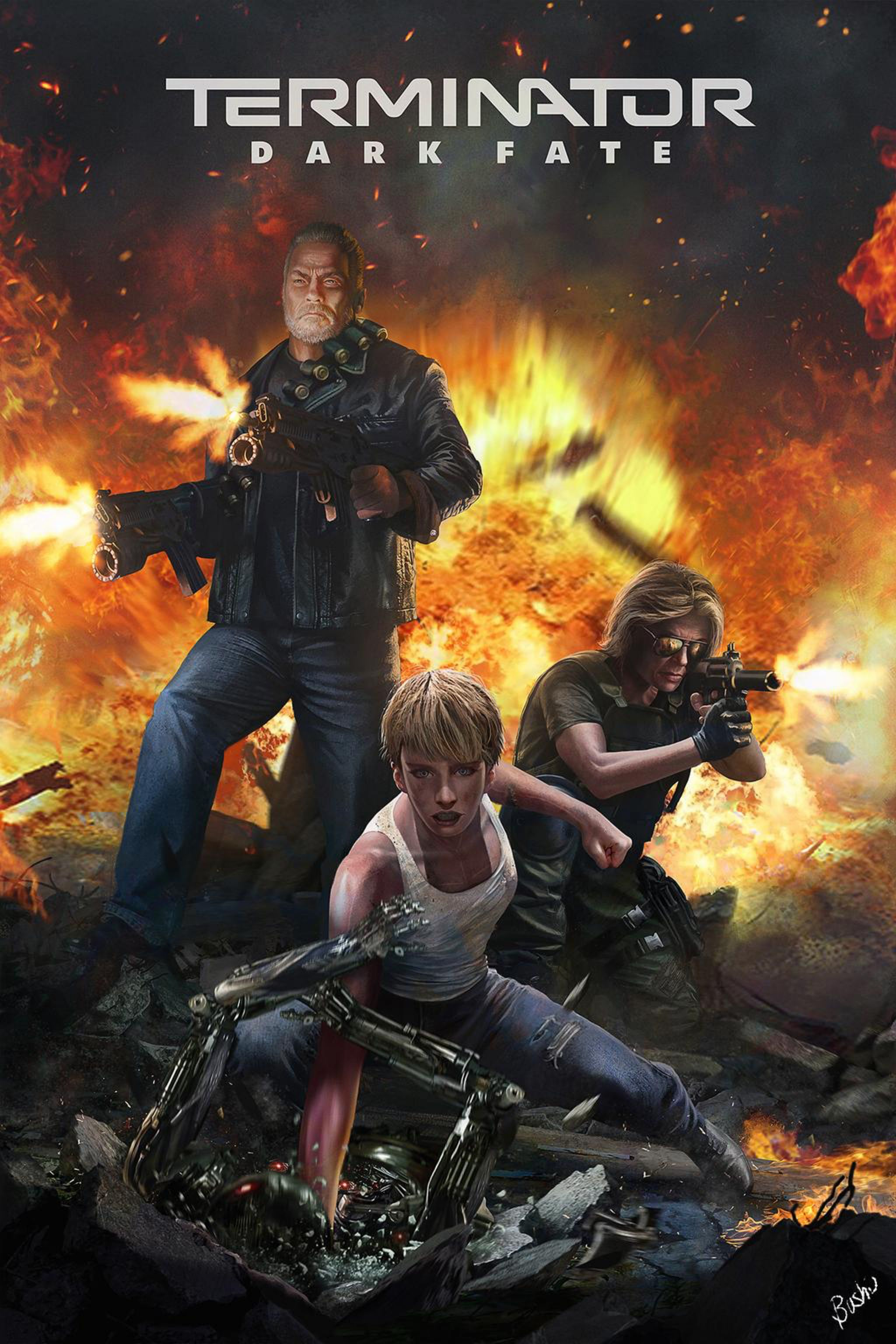 Terminator Dark Fate by Bushuart on @DeviantArt | Terminator, New terminator  movie, Terminator movies