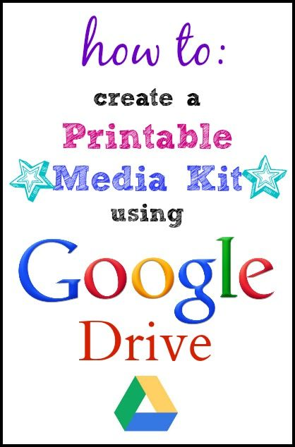 Momma Without a Clue.com/***How to Create a Printable Media Kit for Your Blog Using Google Drive ~