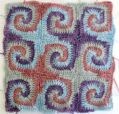 spiral granny squares put together....so beautiful!