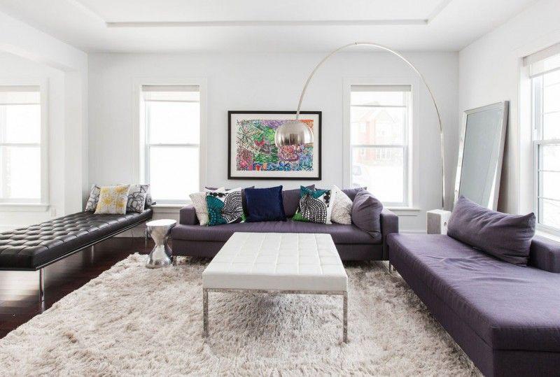 Gri Mor Renk ile Modern Bir Ev Dekorasyonu