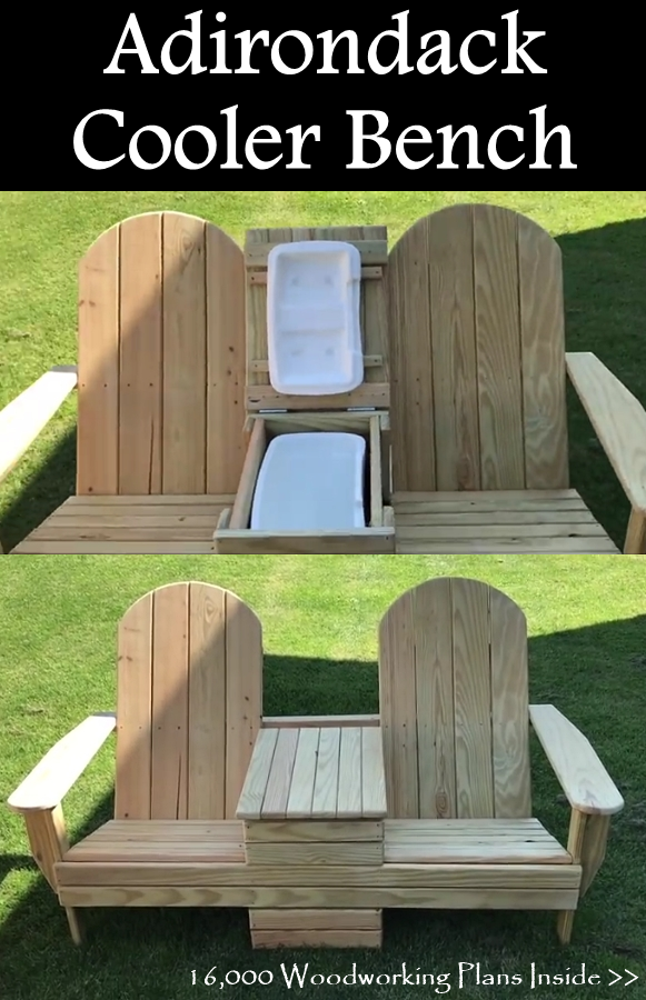 Awe Inspiring Adirondack Cooler Bench Adirondack Chairs Outdoor Chairs Gamerscity Chair Design For Home Gamerscityorg