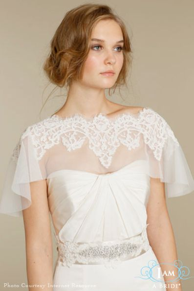 Full lace applique bolero cape wedding cover up lace for Cover up wedding dress