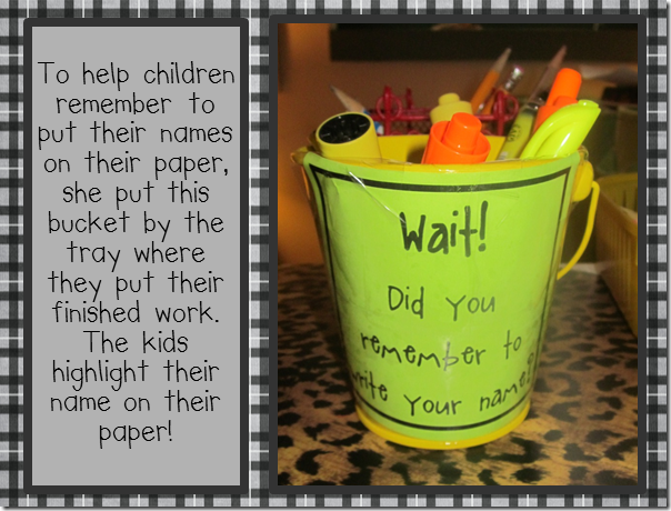 awesome idea for forgetful children classroom organization  awesome idea for forgetful children