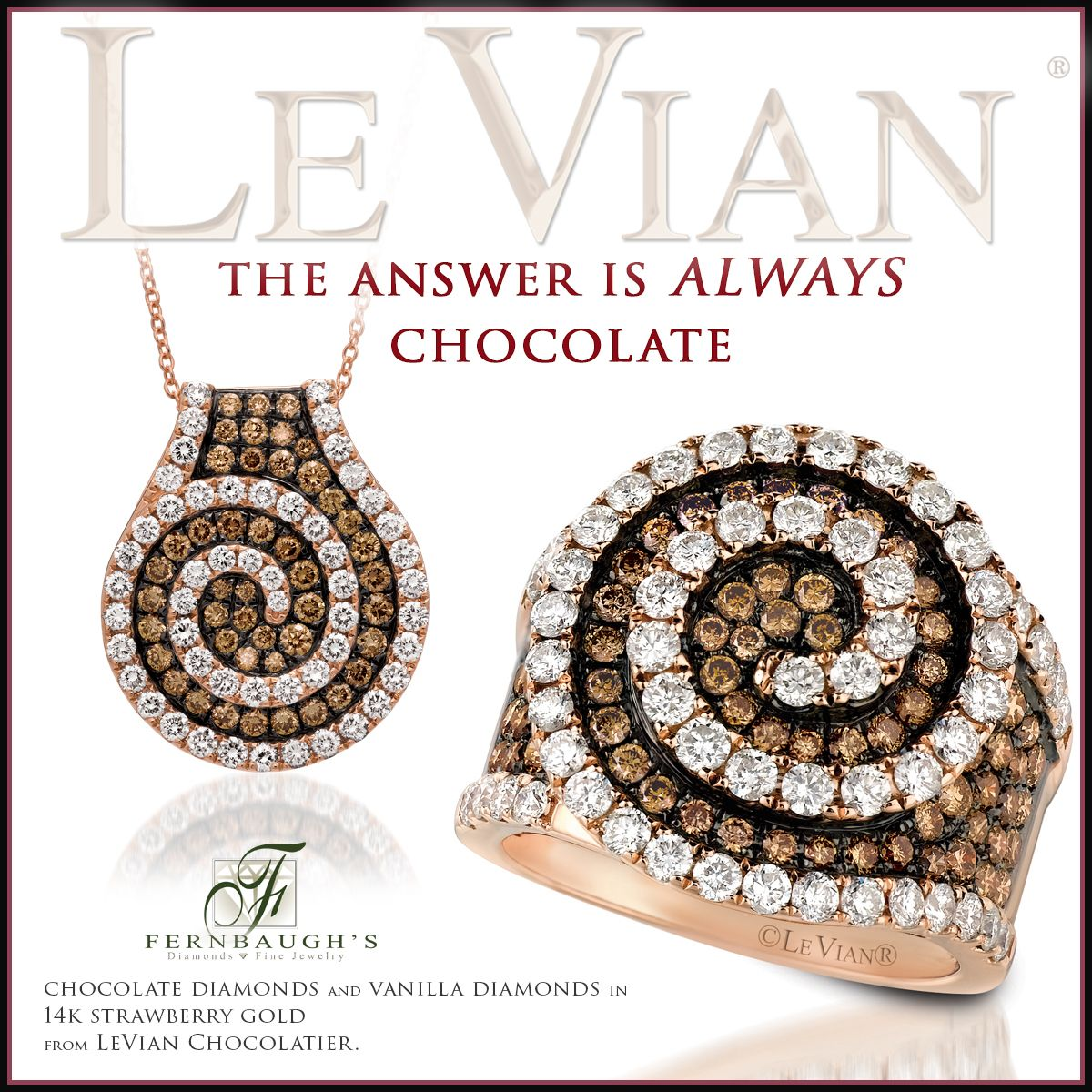 Chocolate is the anwer, who cares what the question is? #ChocolateDiamonds #LeVian""