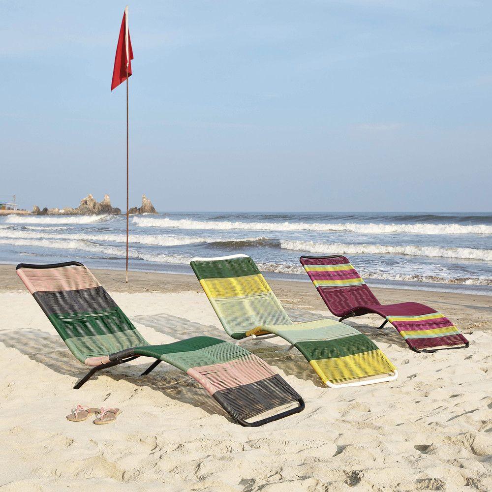 bain de soleil en r sine tress e multicolore en 2019 le. Black Bedroom Furniture Sets. Home Design Ideas