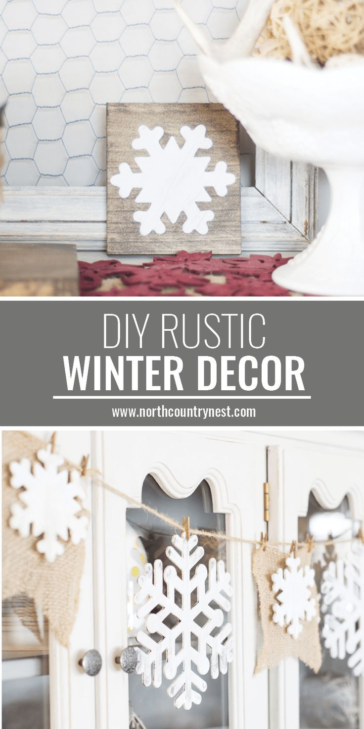 Photo of Two DIY Rustic Farmhouse Winter Home Decor Crafts