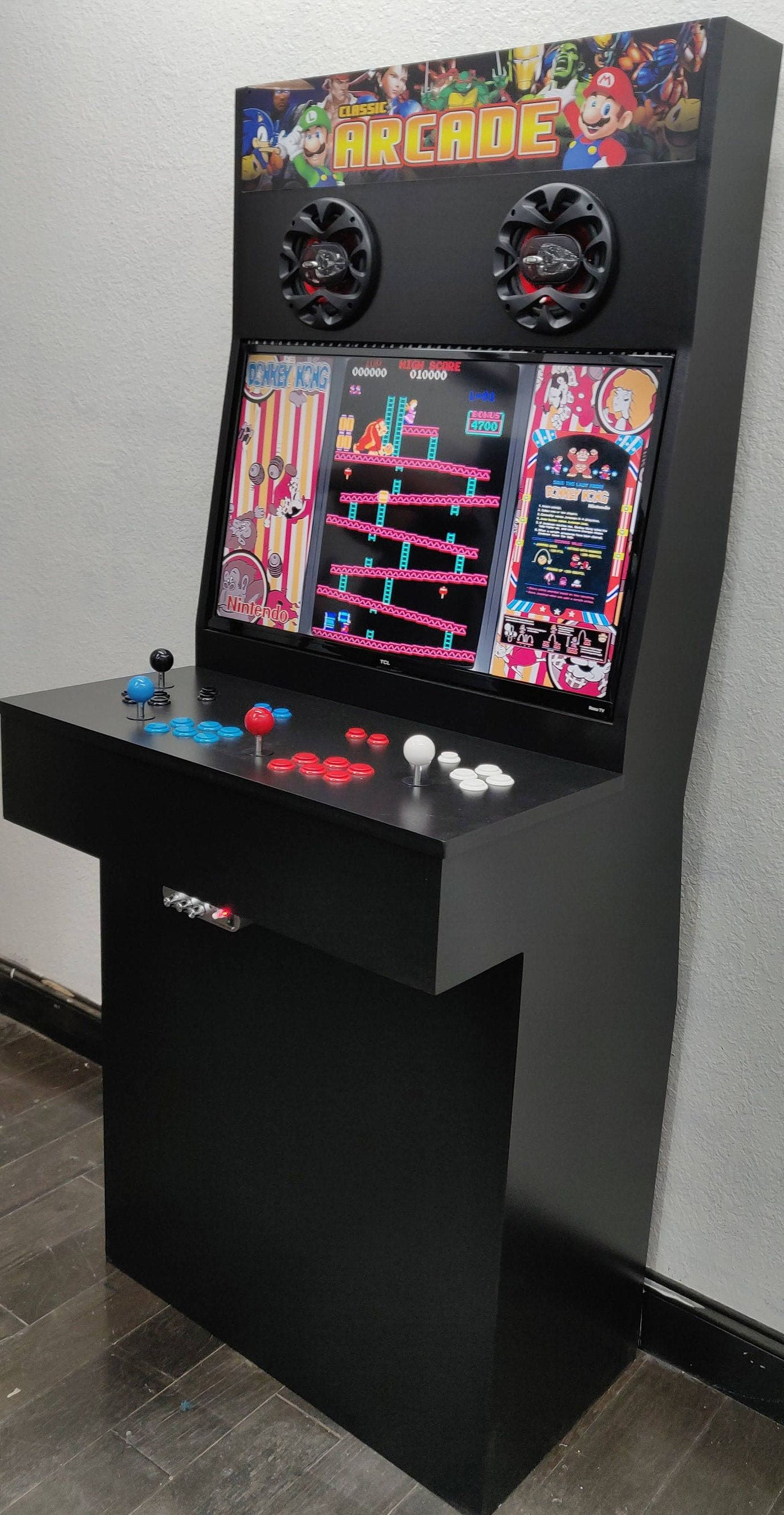 4 Player Arcade Cabinet With Thousands Of Retro Games Etsy