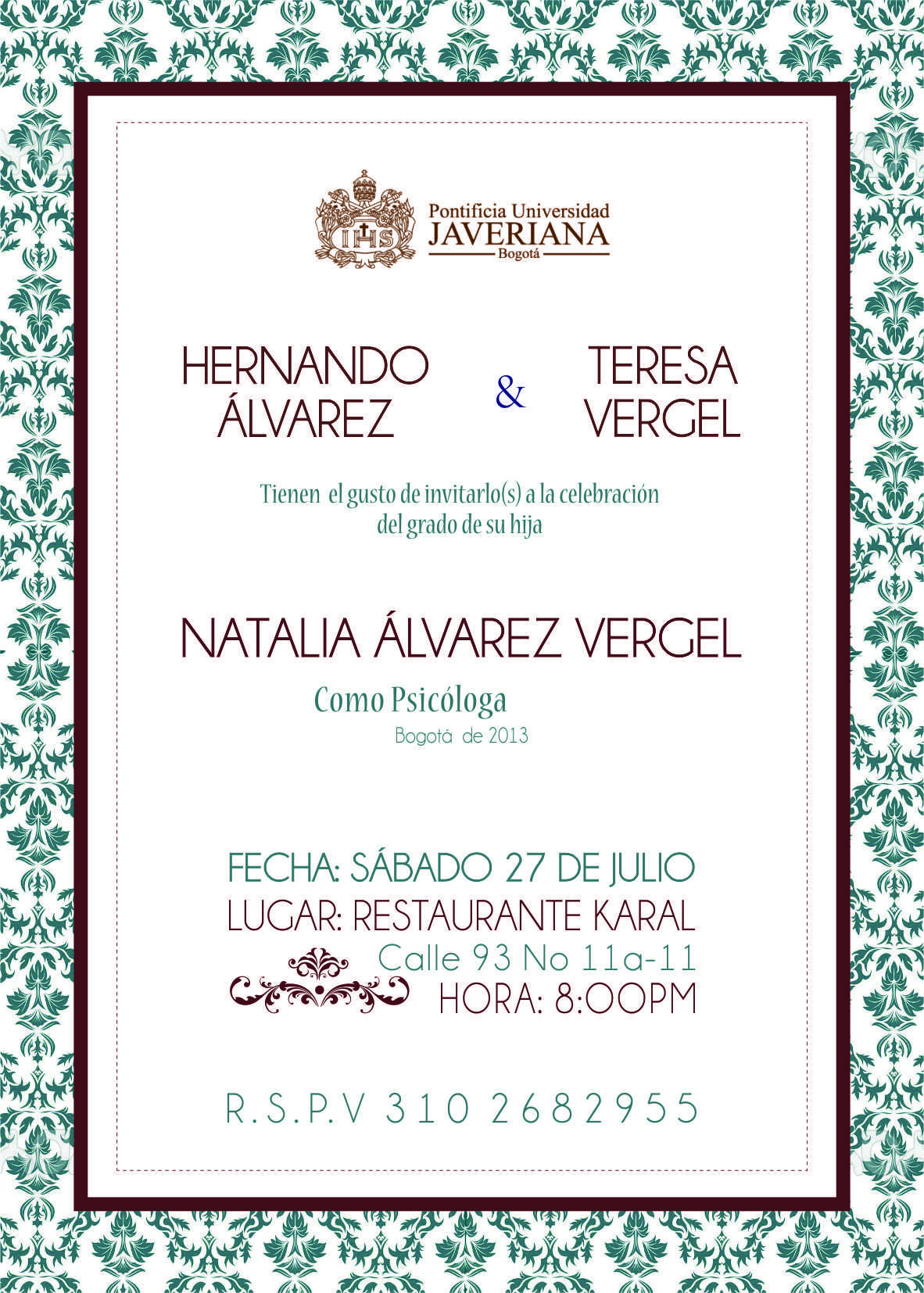 Invitacion Grado Universidad Javeriana Invitaciones De