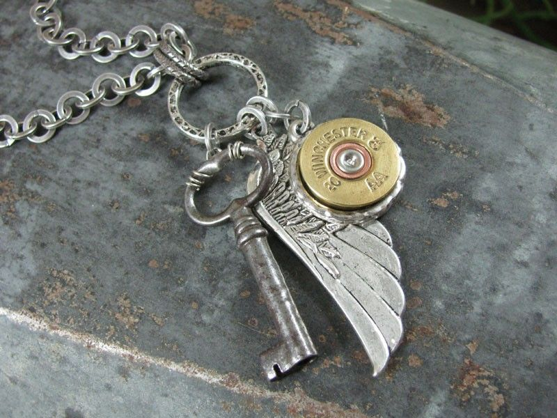 shot in the wing necklace
