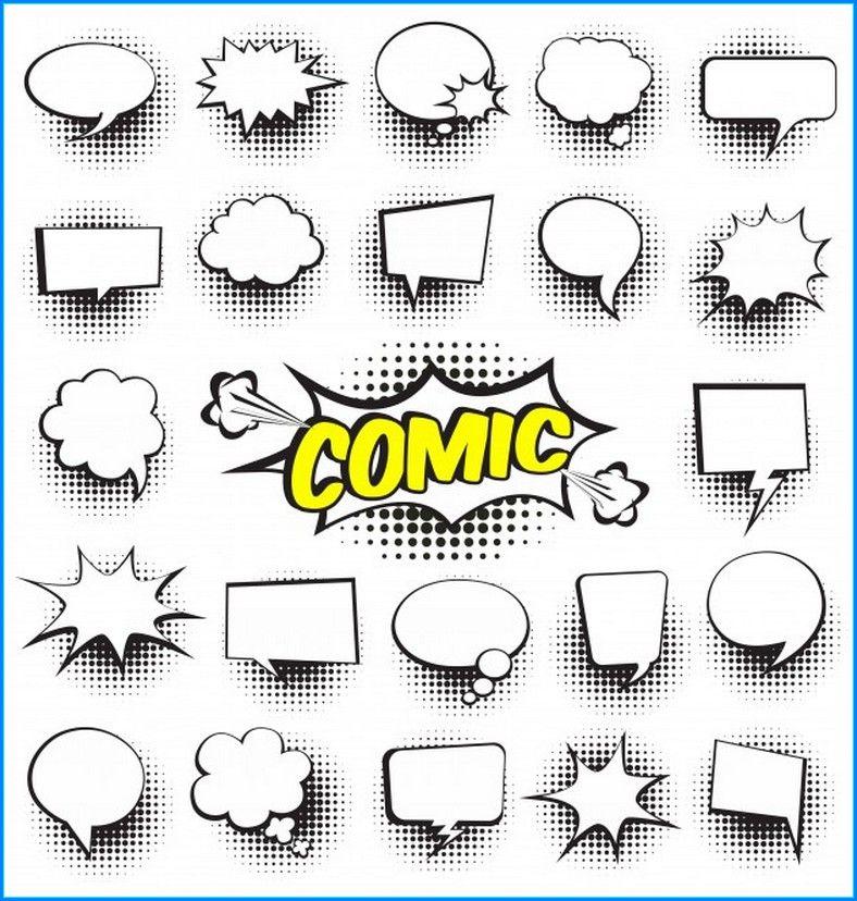 Comic Sprechblasen Zum Ausdrucken In 2020 Sprechblase Graffiti Zeichnung Artpop