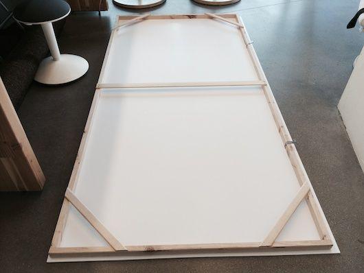 Foam Core Backdrop Support Frame Stuffandymakes Com Foam Core Foam Board Projects Diy Backdrop